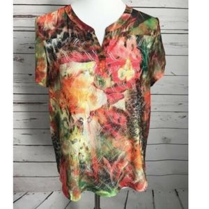 Chico's Short Sleeve Lace Top
